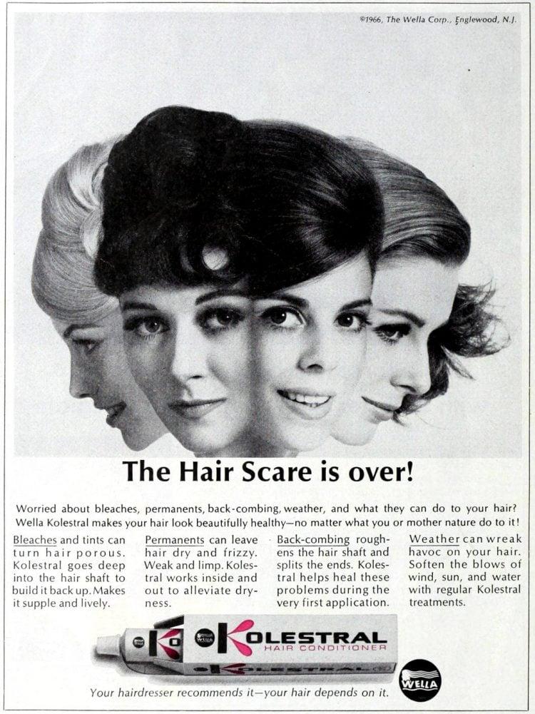 Kolestral hair care from 1966 - Bad retro product names at Click Americana