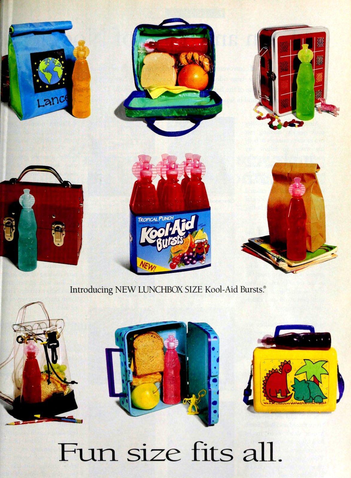 Kool-Aid Bursts juice bottles (1996)