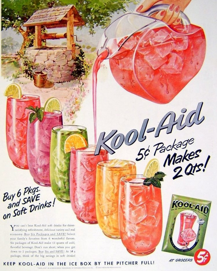 Kool Aid drink mix from 1953