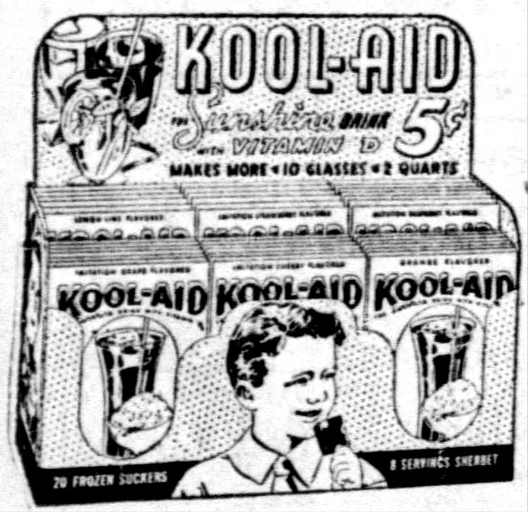 Kool-Aid mix from 1938