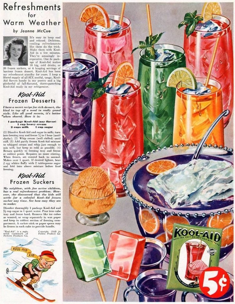 Kool Aid packages plus recipes from 1945