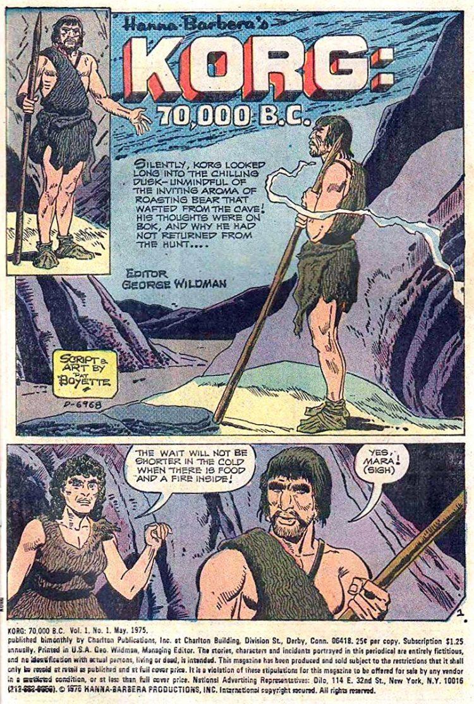 Korg 70000 BC Hanna Barbera cartoon 1970s