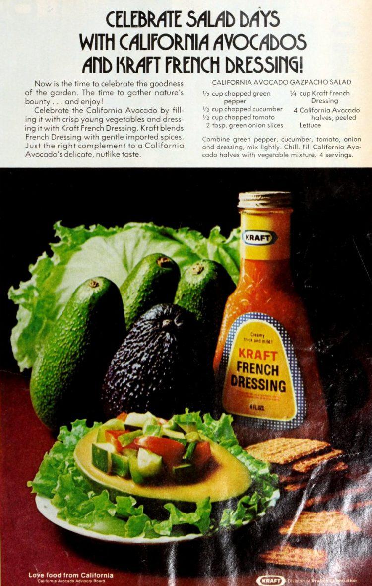 Kraft's California avocado gazpacho salad
