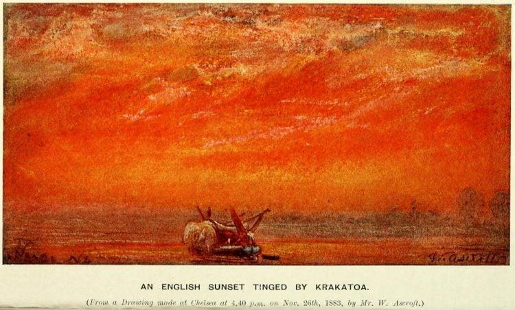 Krakatoa eruption - Sunsets around the world