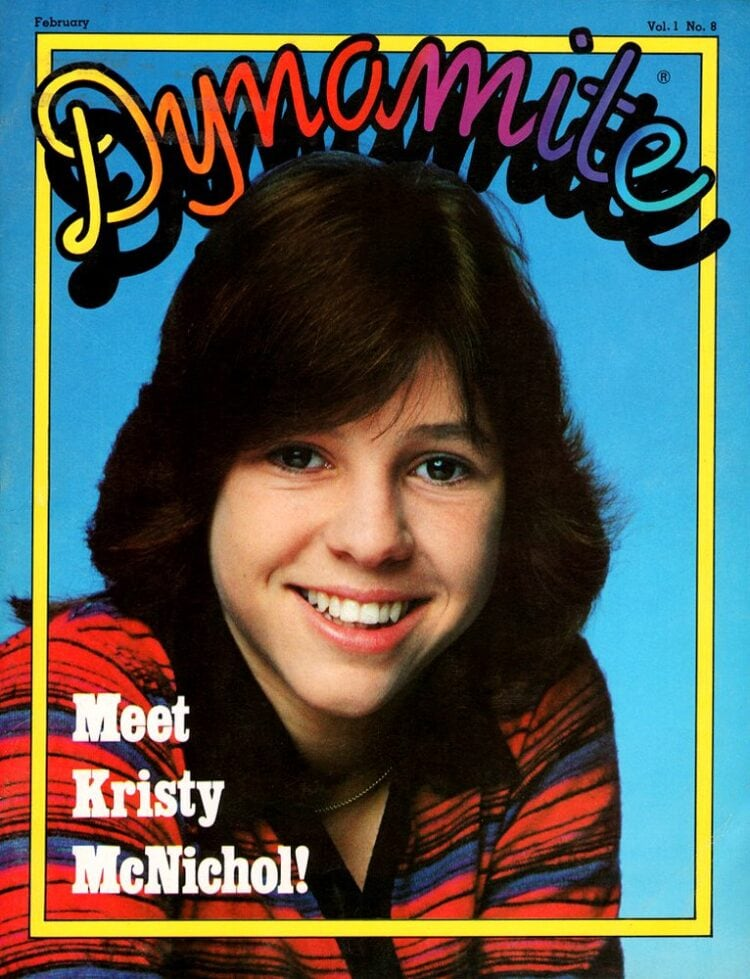 Kristy McNichol on cover of Dynamite