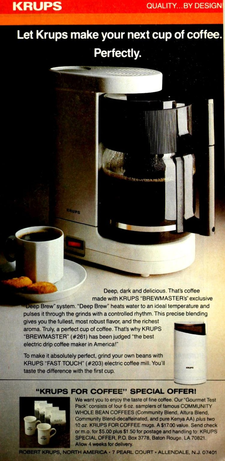 Krups coffee maker - Brewmaster (1985)
