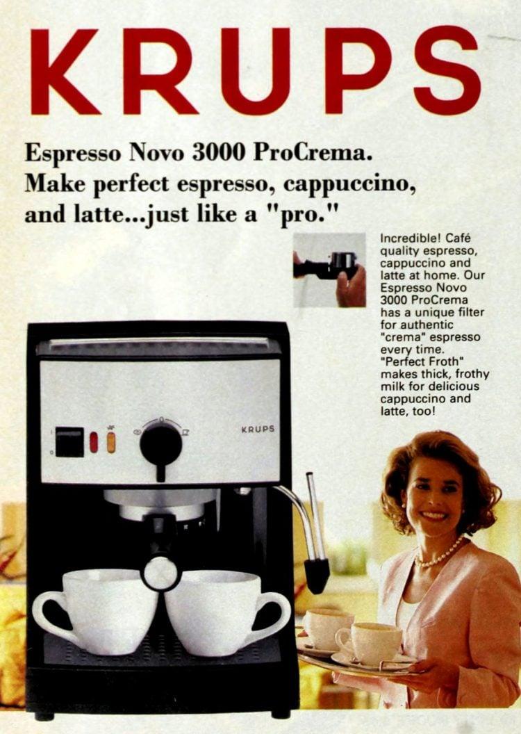 Krups coffee maker - Espresso Novo 3000 ProCreama (1996)