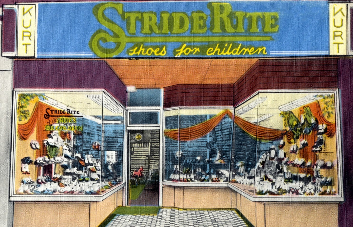 Kurt Stride Rite Shoes for Children - New York (1940s)