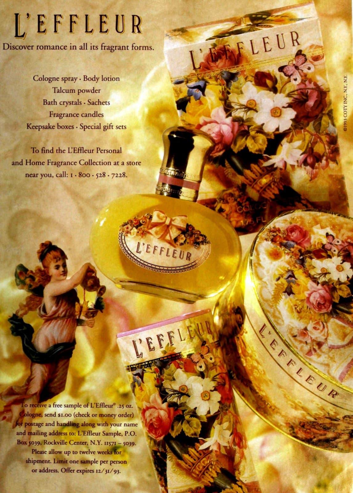 L'Effleur fragrance collection (1993) at ClickAmericana.com