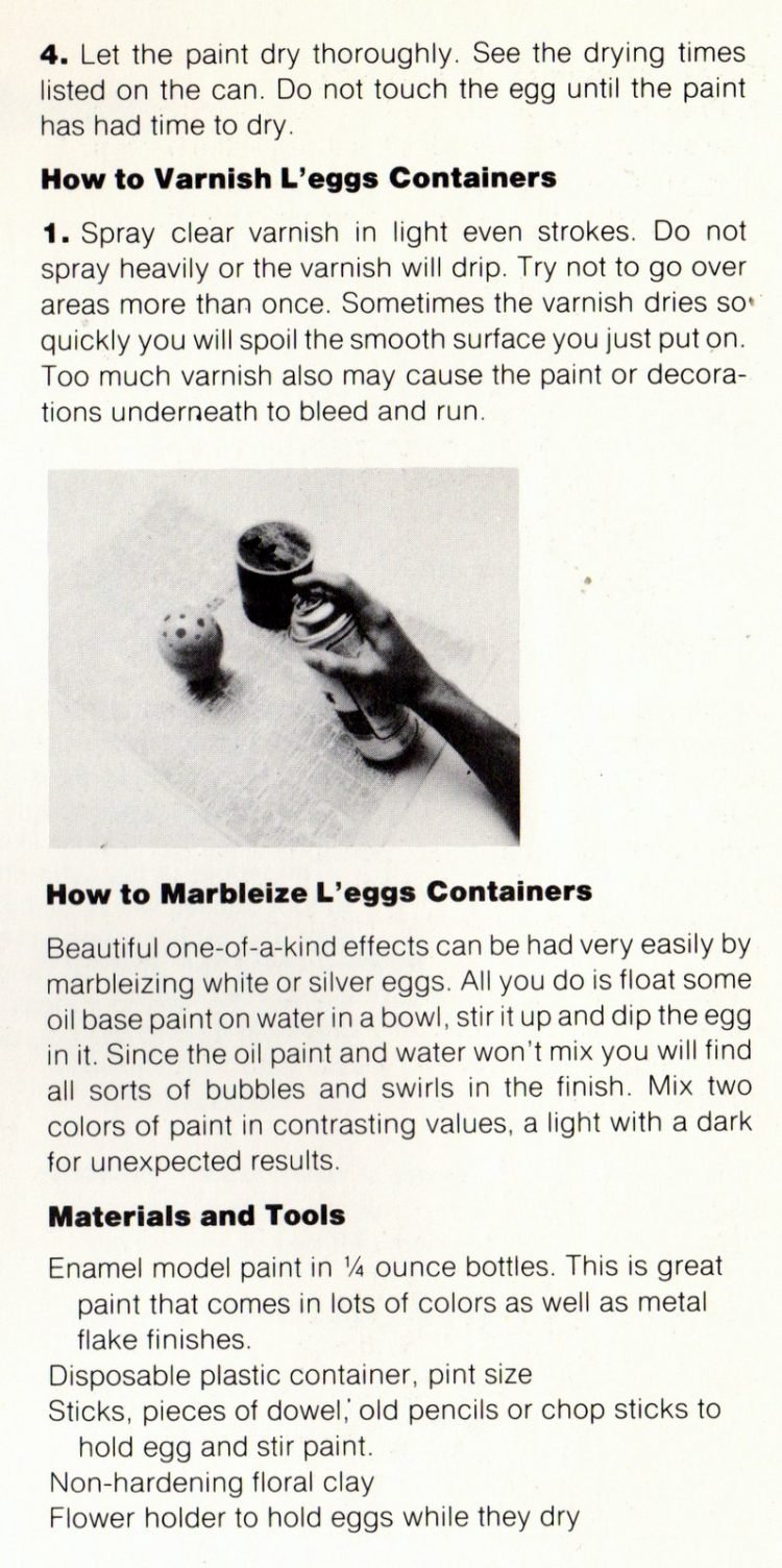 L'Eggs craft project tips and techniques - 1970s (2)