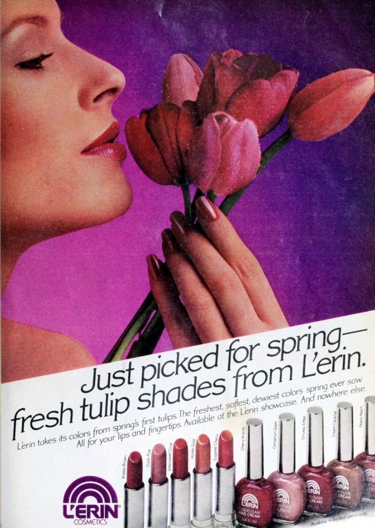 L'Erin Nail polish ads of the '80s