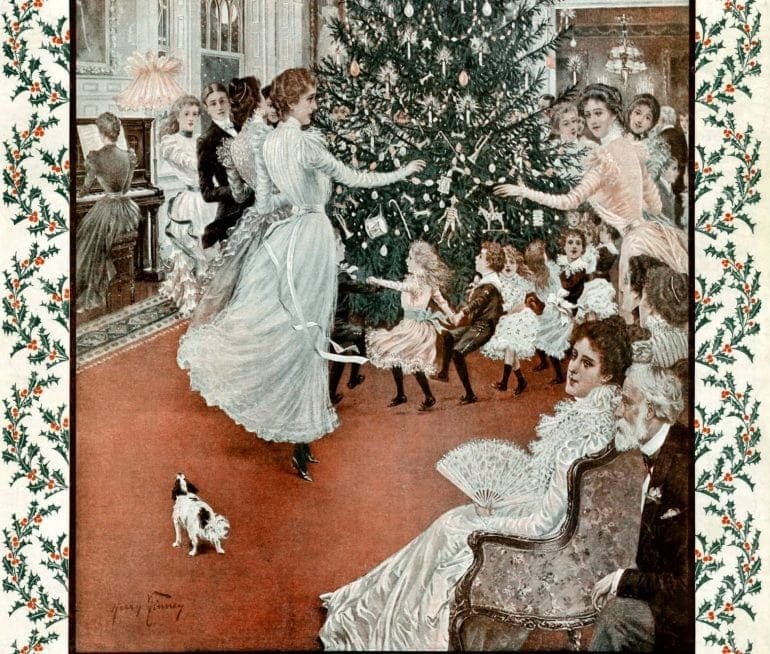 For children: Festive fashion for the holidays (1896)