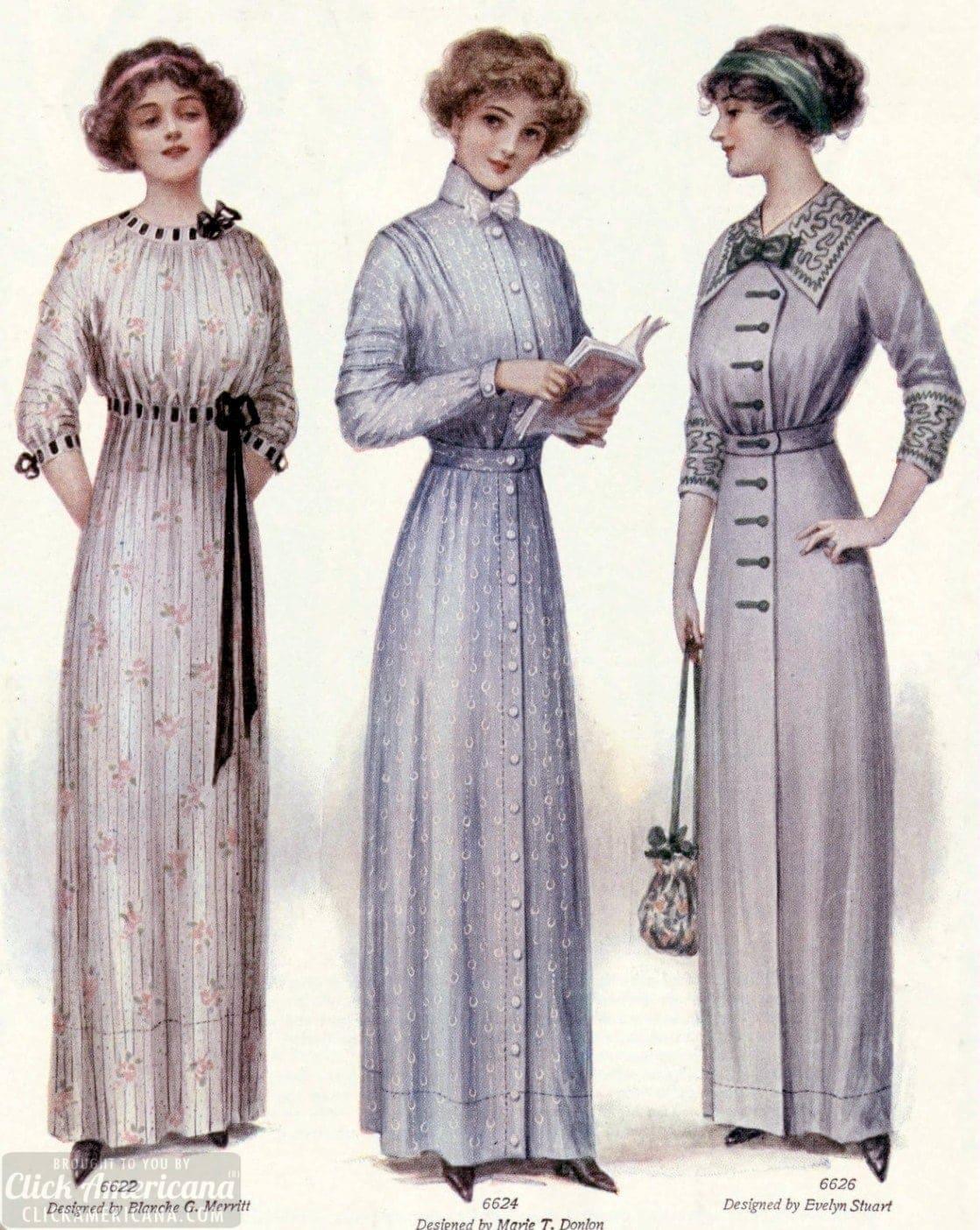 LHJ women fashion beauty 1912 Dollar dresses