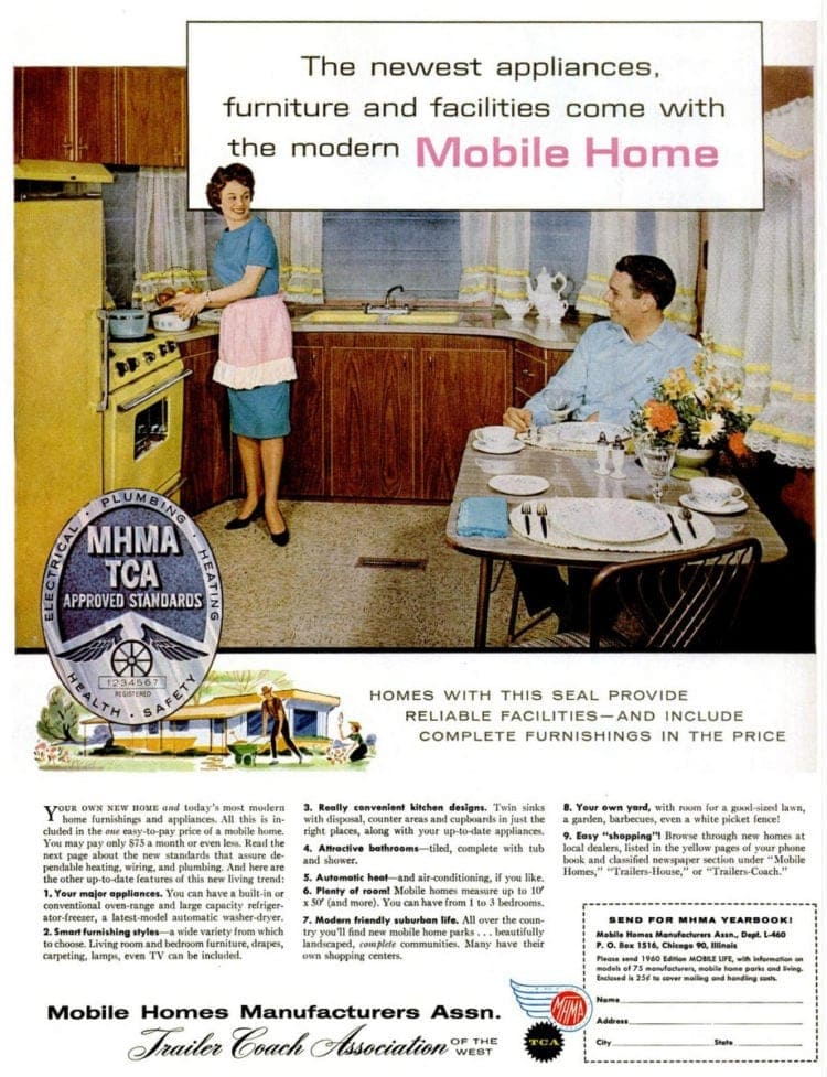 Mobile homes in 1960