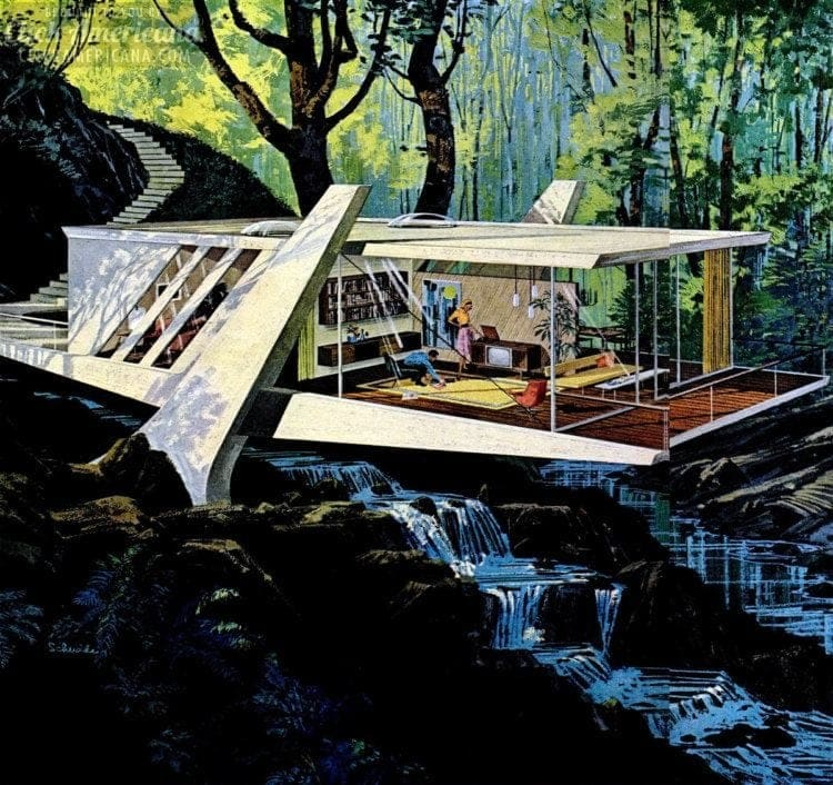 Space age house decor from Charles Schridde