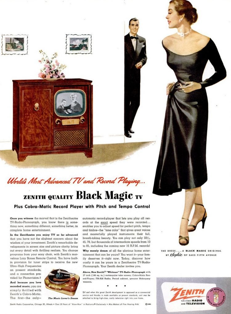 LIFE Apr 23, 1951 zenith tv
