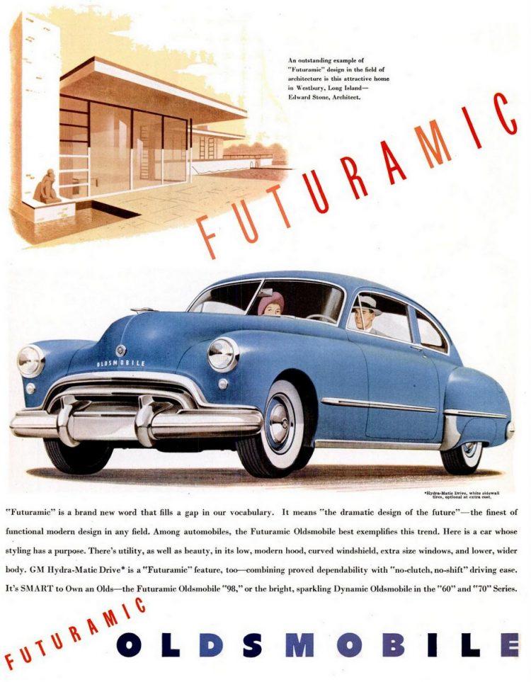 LIFE Apr 26, 1948 Oldsmobile Futuramic