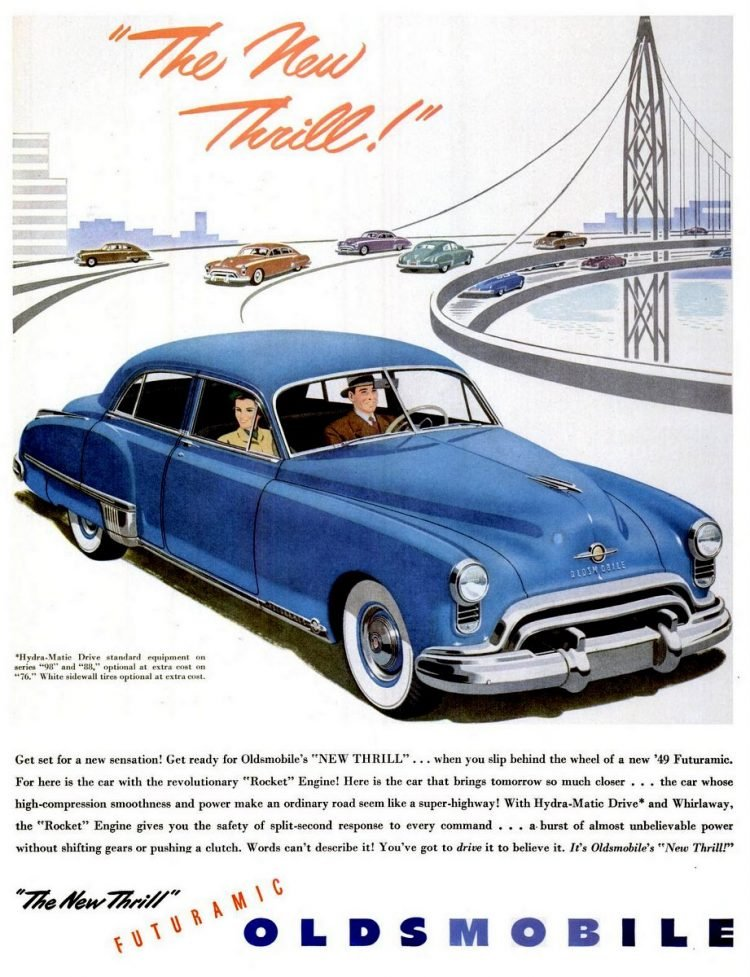 LIFE Apr 4, 1949 Oldsmobile Futuramic
