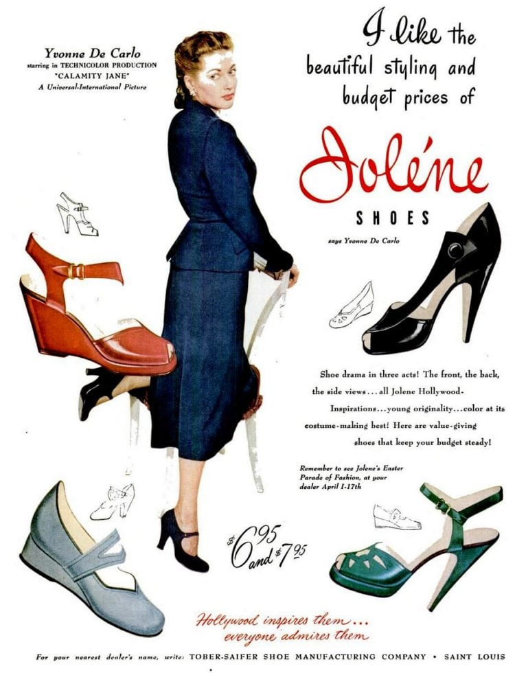 JOlene shoes from the 1940s