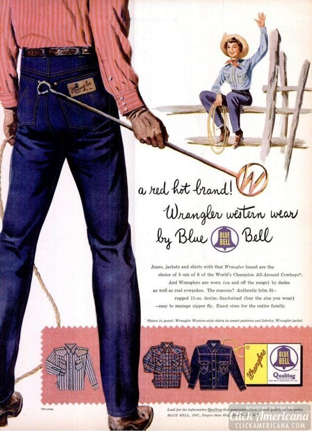 Blue Bell Wrangler Jeans from the 1950s - Click Americana