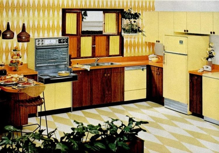 Appliances and kitchen design from 1962