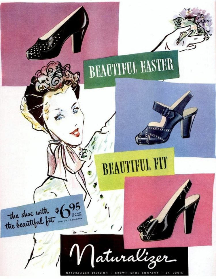 Spring Naturalizer vintage high-heeled shoes (1946)