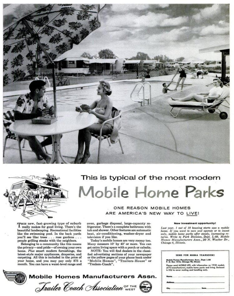 Mobile homes from 1958