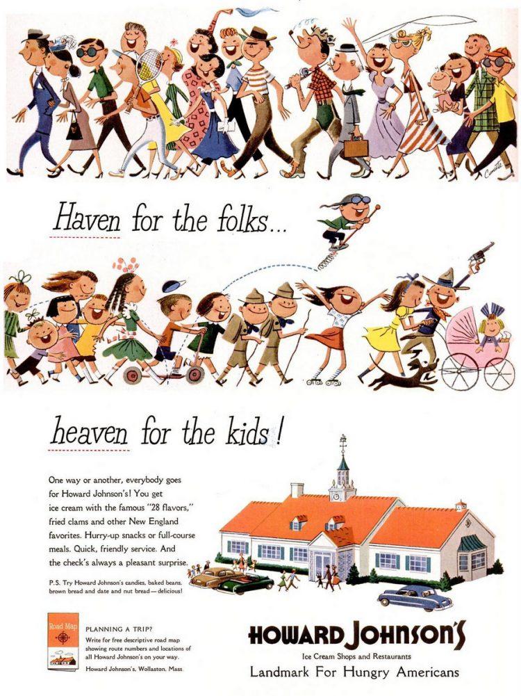 LIFE Aug 21, 1950 Howard Johnson's restaurant