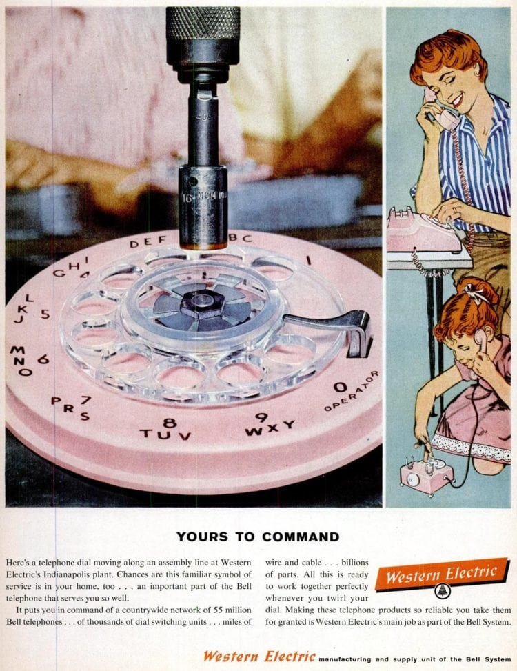 LIFE Aug 24, 1959 - Vintage dial telephone