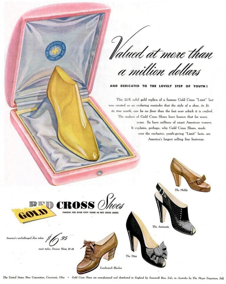The 22k Gold Cross shoe (1944
