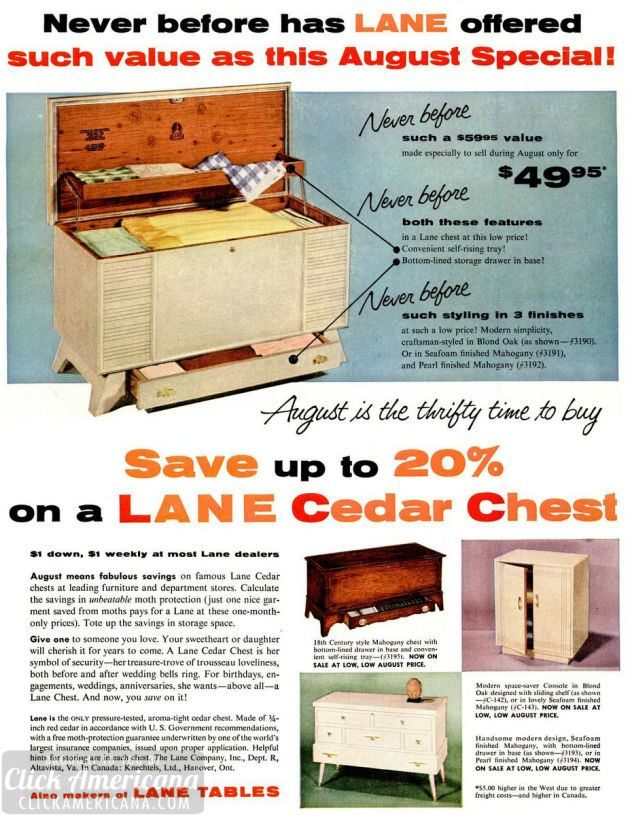 LIFE Aug 8, 1955 hope chest