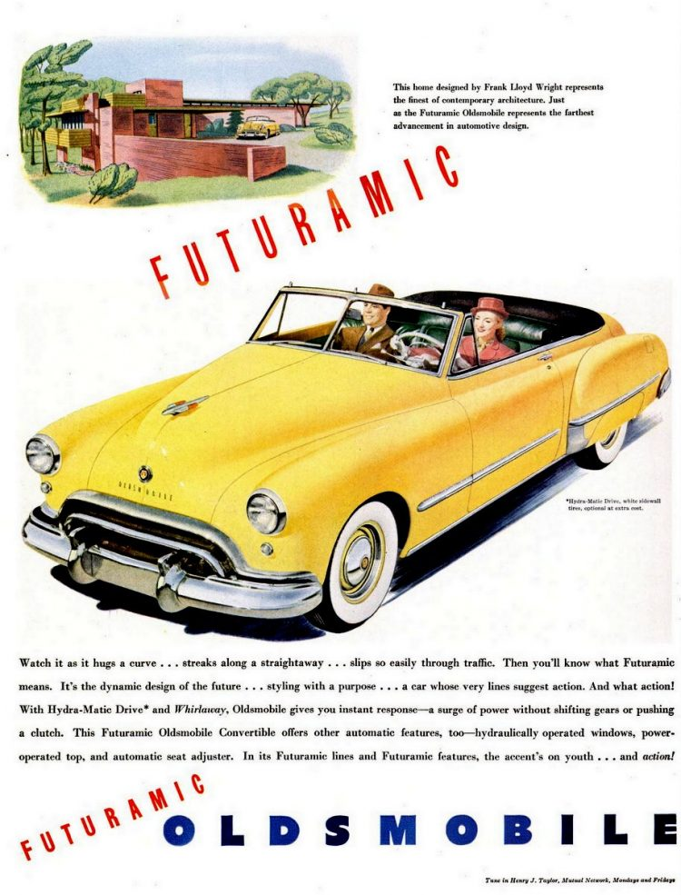 LIFE Aug 9, 1948 Oldsmobile futuramic