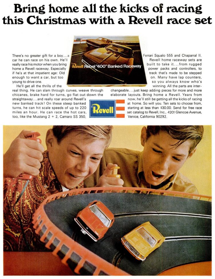 LIFE Dec 1, 1967 - Toys - Revell banked raceway for cars