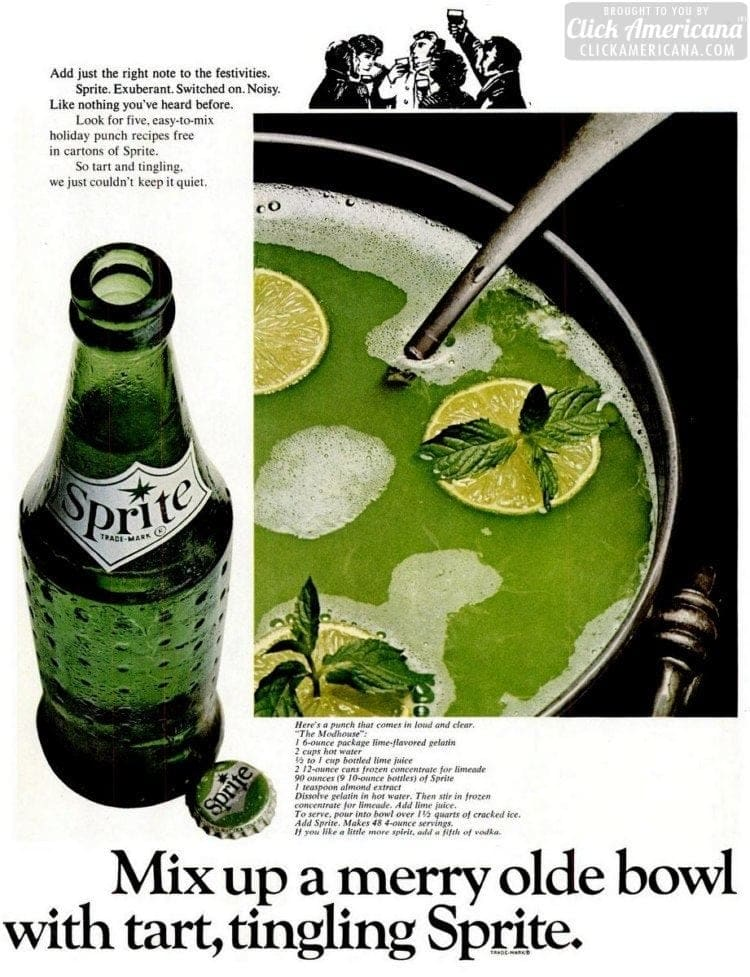 The Modhouse green Christmas punch (1966)
