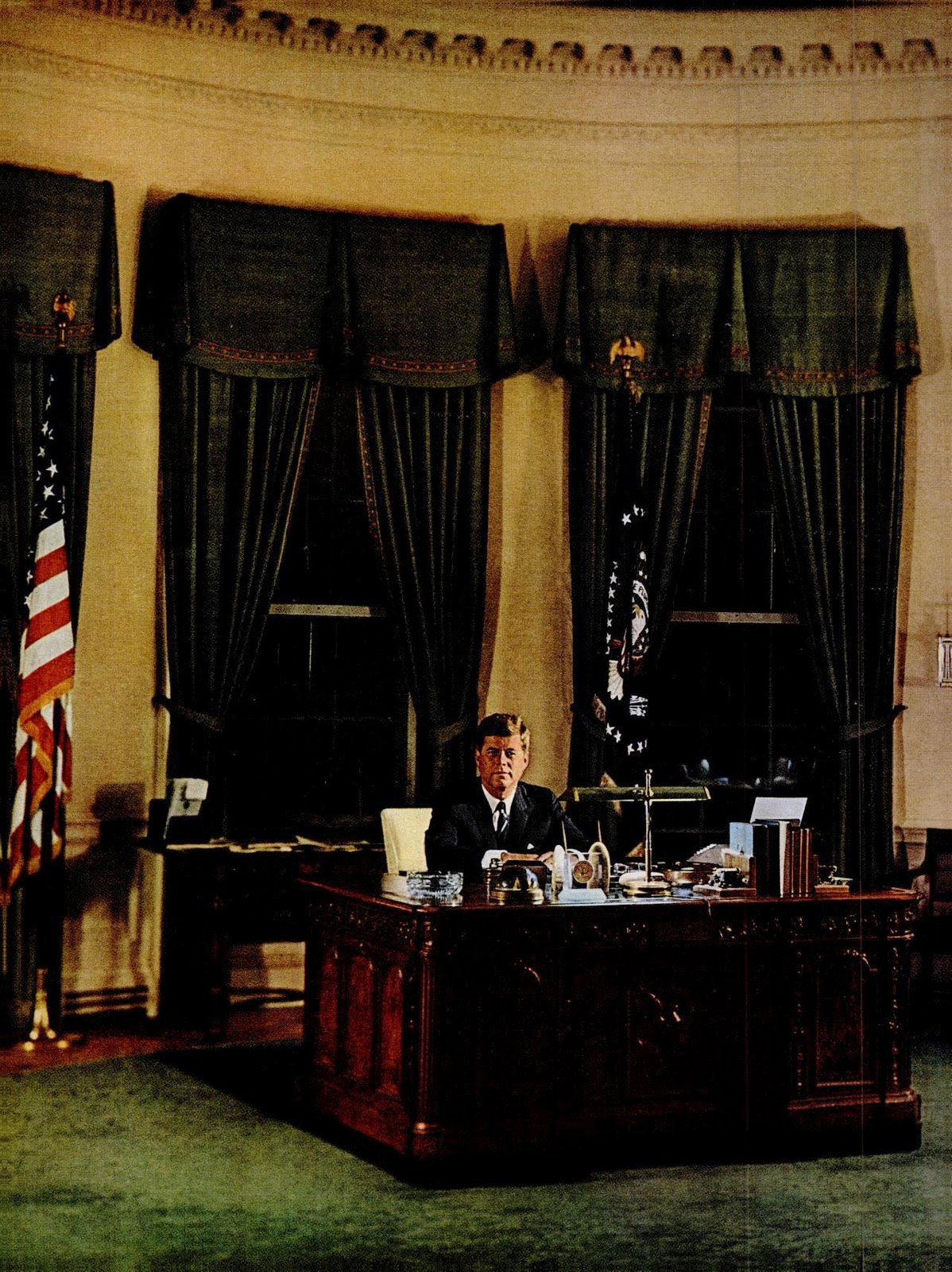 JFK in the Oval Office