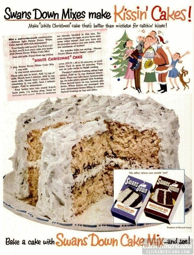 White Christmas cake recipe (1952)