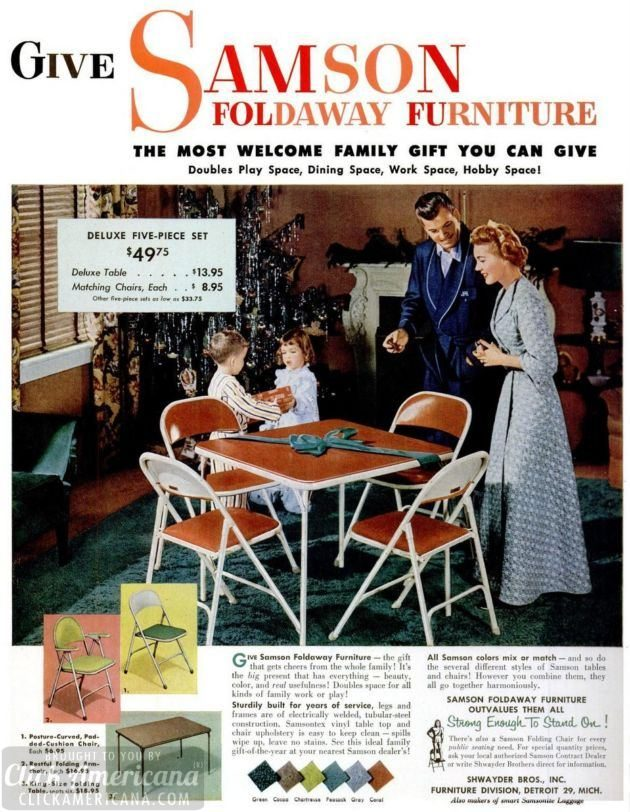 LIFE Dec 8, 1952 card table