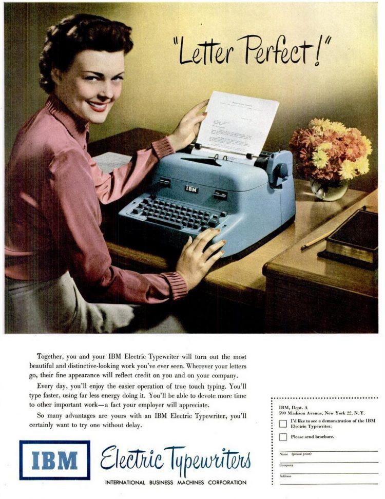 LIFE Feb 13, 1950 IBM typewriters