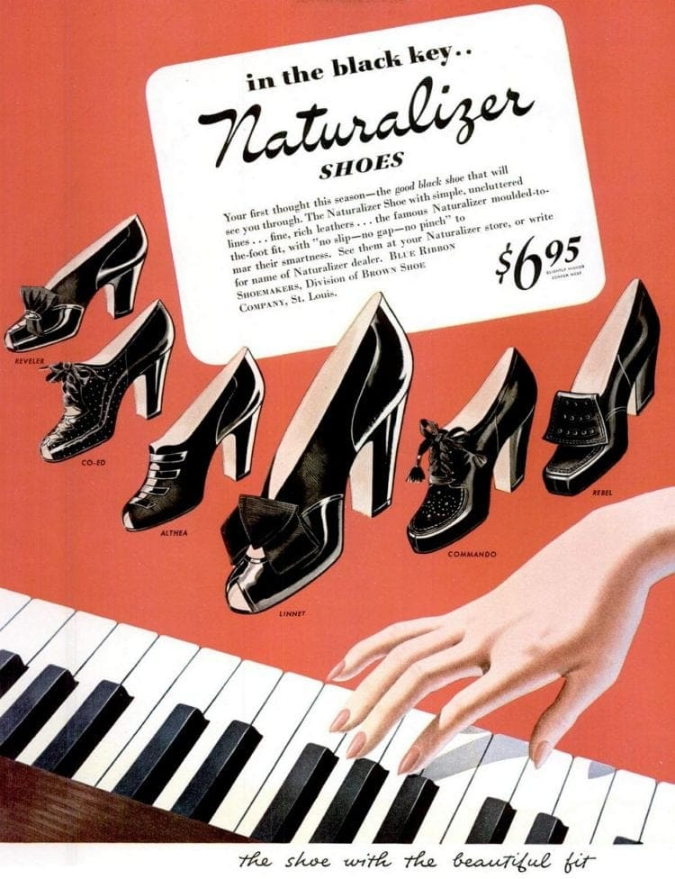 Retro Naturalizer shoes, in the black key (1943)