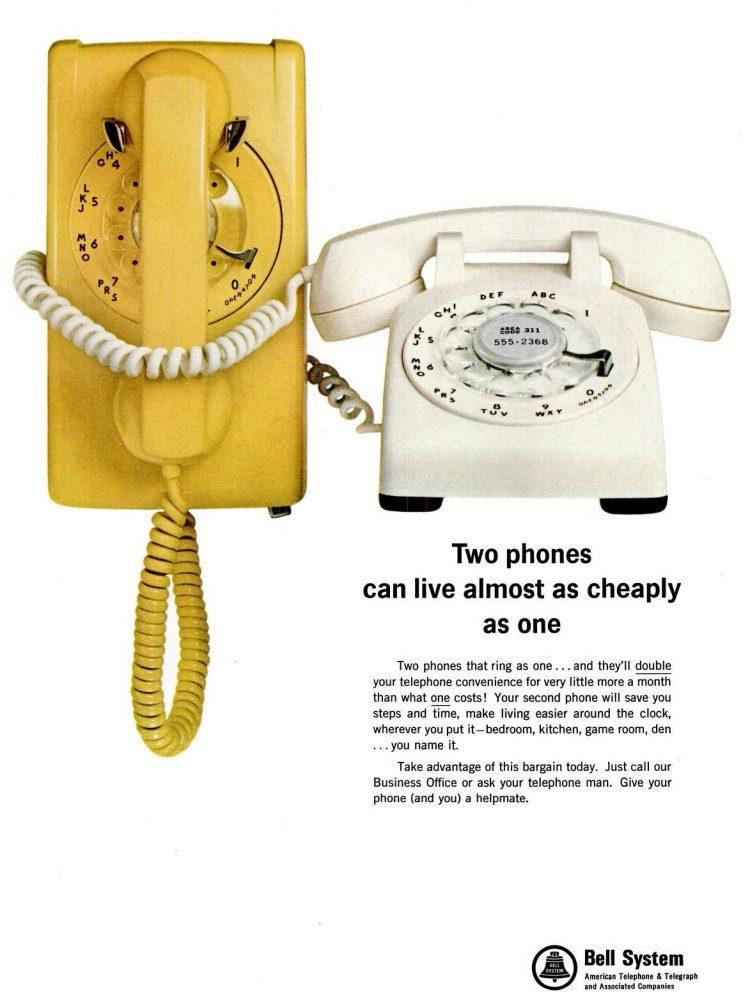 LIFE Feb 18, 1966 telephones