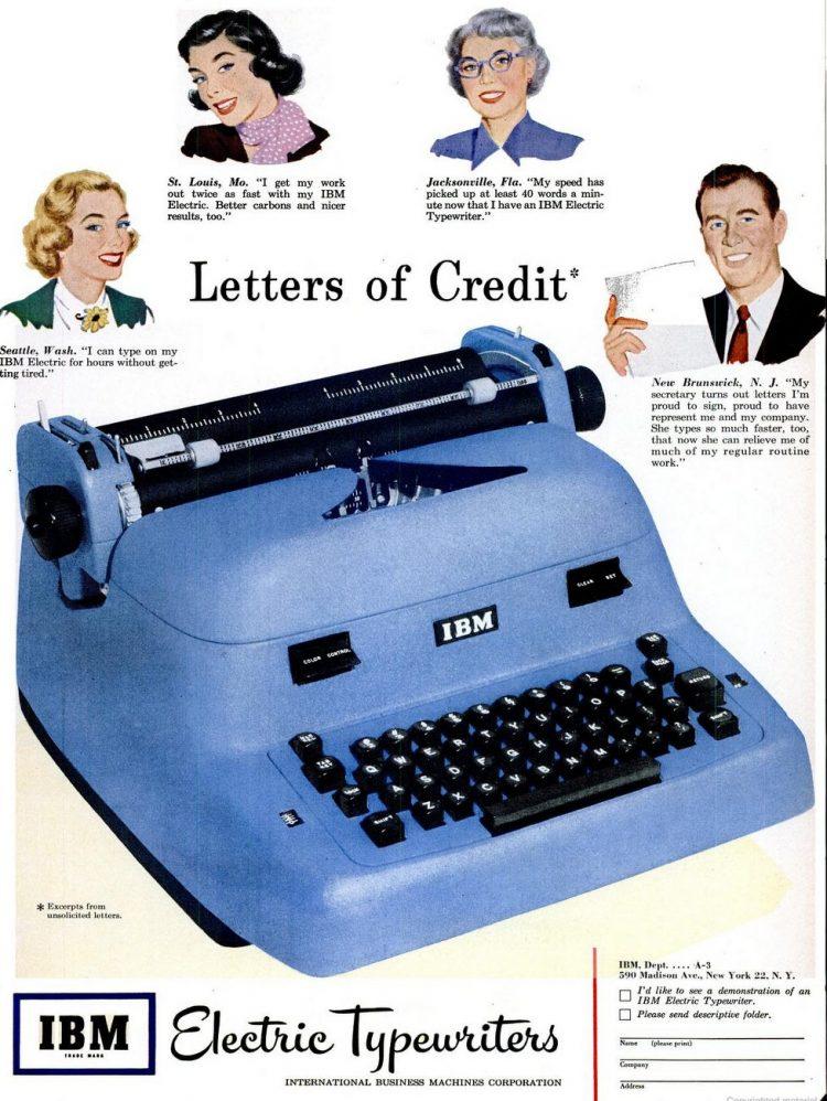 LIFE Feb 19, 1951 IBM typewriter