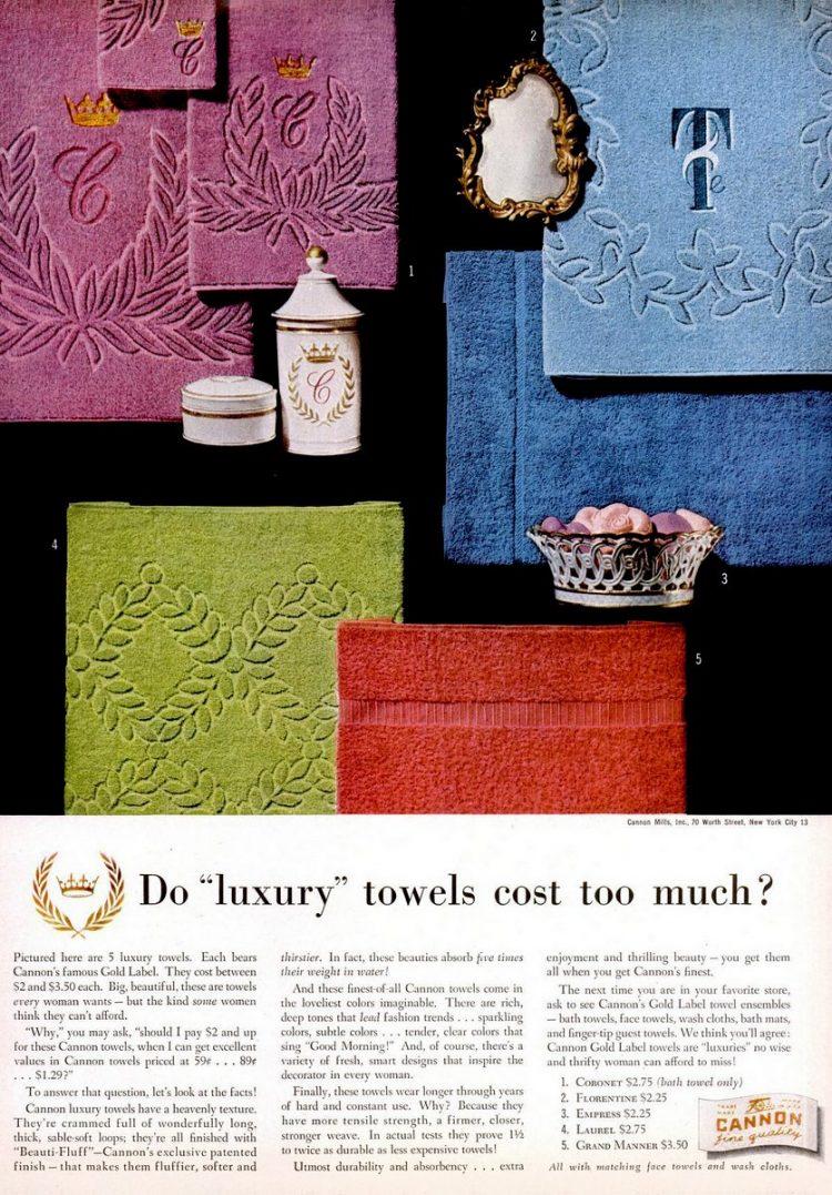 LIFE Feb 23, 1953 towels