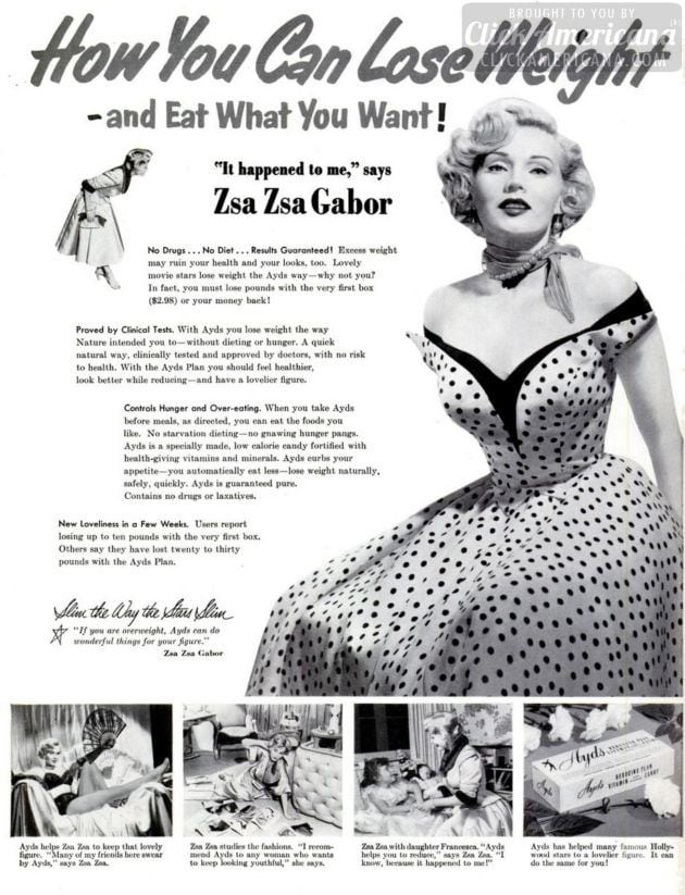 Lose weight with Zsa Zsa Gabor! (1953)