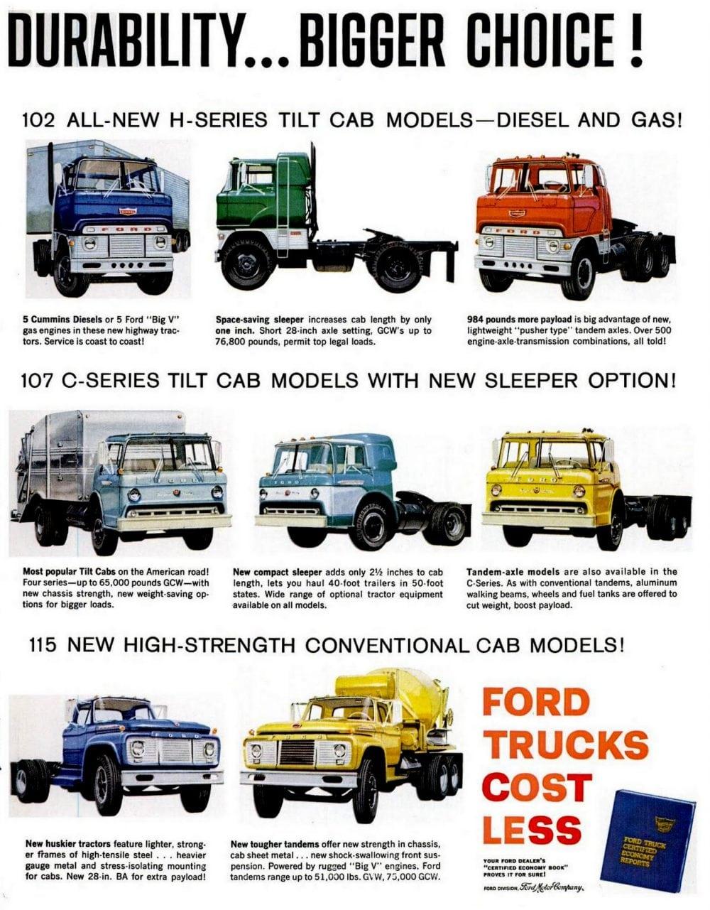 '61 Ford Super Duty Trucks