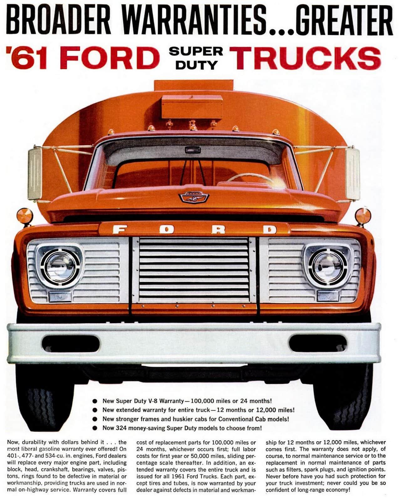 The Heavy Duty Ford Trucks From 1961 Click Americana