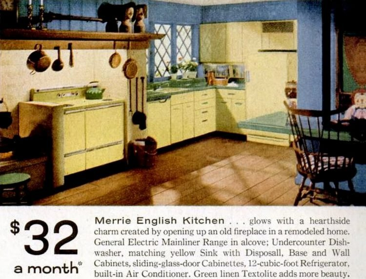 LIFE Jan 21, 1957 GE kitchens