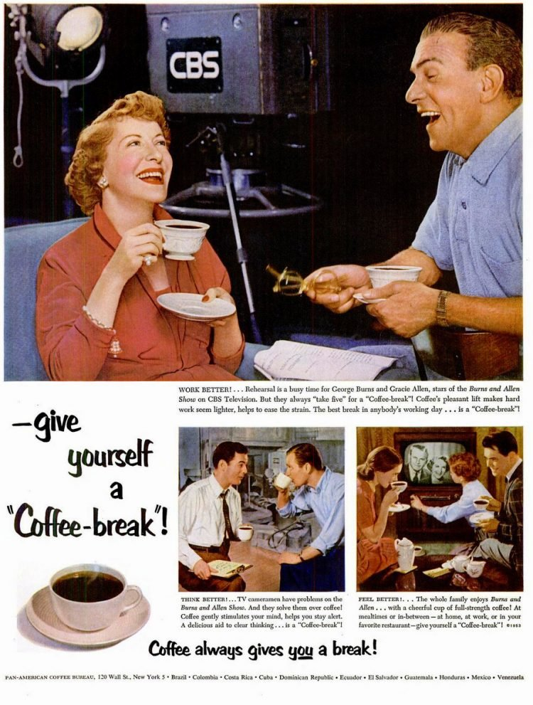 LIFE Jan 5, 1953 coffee george gracie burns
