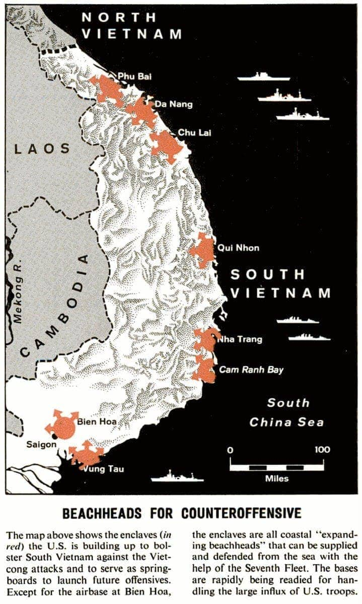 Map of Vietnam - War 1965