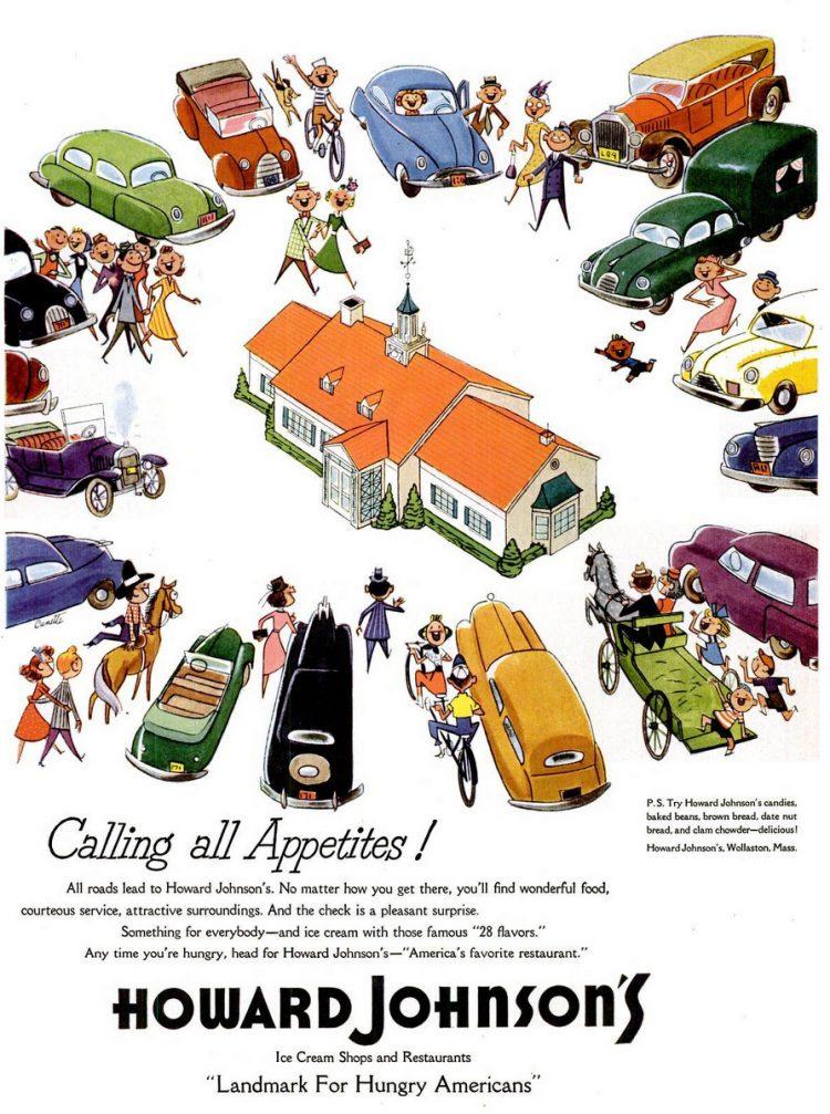 LIFE Jun 14, 1954 Howard Johnson's restaurant