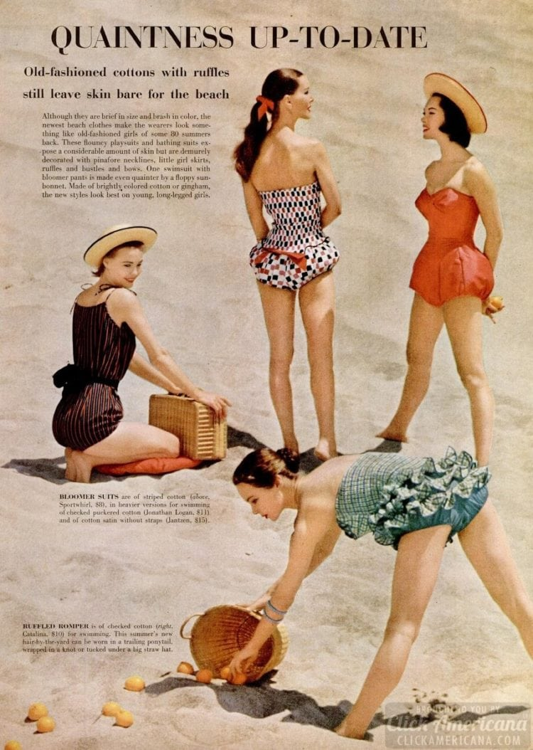 50s vintage swimsuits